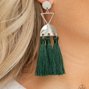 Tassel Trippin Grenn post Earring